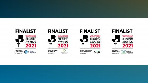 We Are Hereford and Worcestershire Chamber of Commerce Awards Finalists!