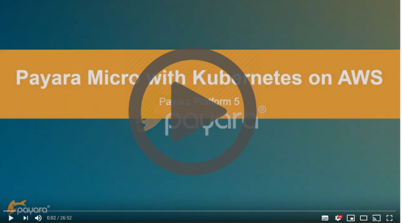 Payara Micro with Kubernetes on AWS Video