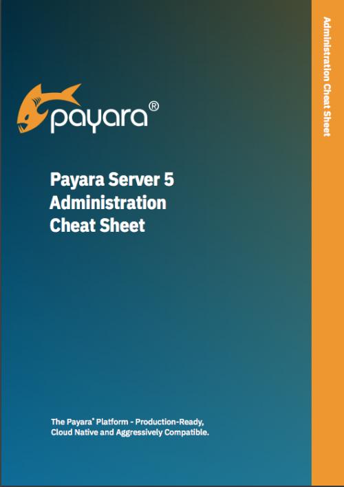 'Payara Server 5 Administration Cheat Sheet' front cover.