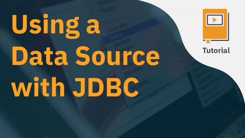 Using a Data Source with JDBC
