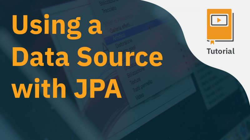 Using a Data Source with JPA