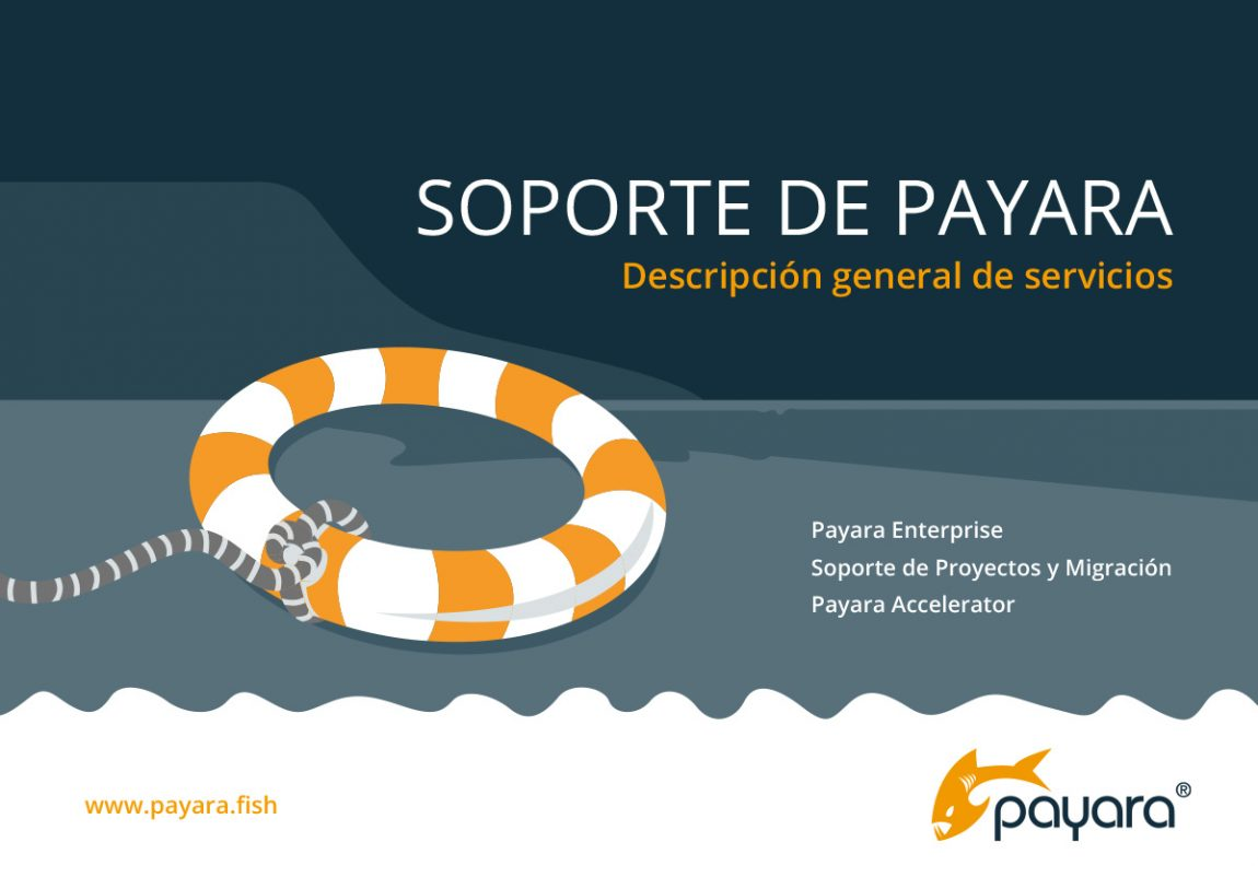 'Payara Support service overview' front cover in Spanish.