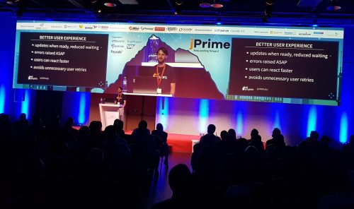 Ondrej speaking at conference