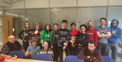 Christmas office group